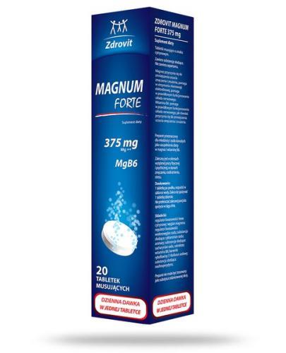 Zdrovit Magnum Forte 375 tabletki musujące 20 sztuk