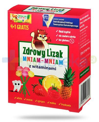 Zdrowy lizak Mniam-Mniam z witaminą C i D 5 sztuk