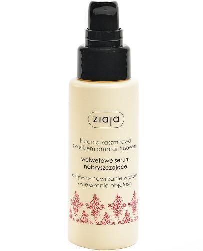 Ziaja Kuracja kaszmirowa z olejkiem amarantusowym serum welwetowe nabłyszczające włosy 50 ml