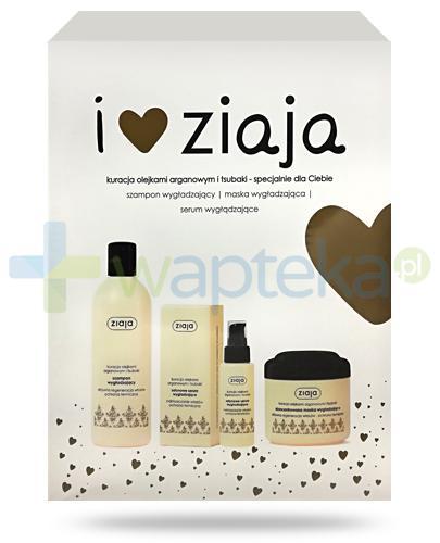 Ziaja Love You, Arganowy szampon wygładzający 300 ml + arganowa maska wygładzająca 200 ml + arganowe serum wygładzające 50 ml [ZESTAW]