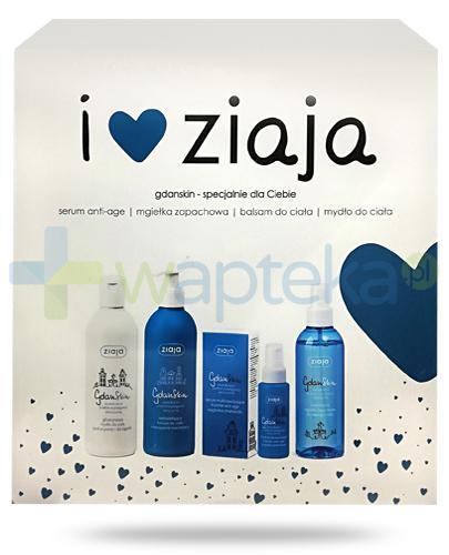Ziaja Love You, GdanSkin serum Anti-Age 50 ml + mgiełka zapachowa 200 ml + basam do ciała 300 ml + mydło do ciała 300 ml [ZESTAW]