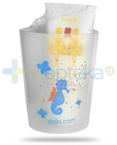 Ziaja Maziajki pasta do zębów z fluorem dla dzieci 6+ zęby mleczne i zęby stałe 50 ml + kubek [ZESTAW]