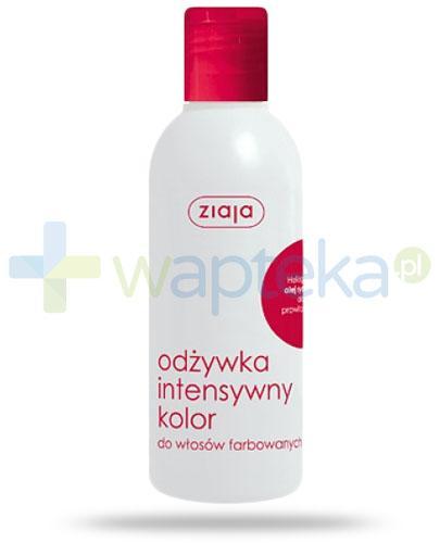 Ziaja Plantica odżywka intensywny kolor do włosów farbowanych z olejem rycynowym 200 ml