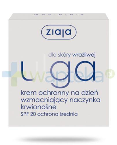 Ziaja Ulga dla skóry wrażliwej krem ochronny na dzień wzmacniający naczynka krwionośne 50 ml