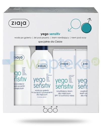 Ziaja Yego Sensitiv kosmetyki dla meżczyzn 4 sztuki [ZESTAW]