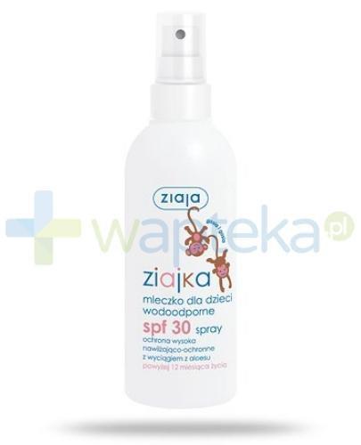Ziaja Ziajka mleczko dla dzieci wodoodporne SPF30 w sprayu 170 ml